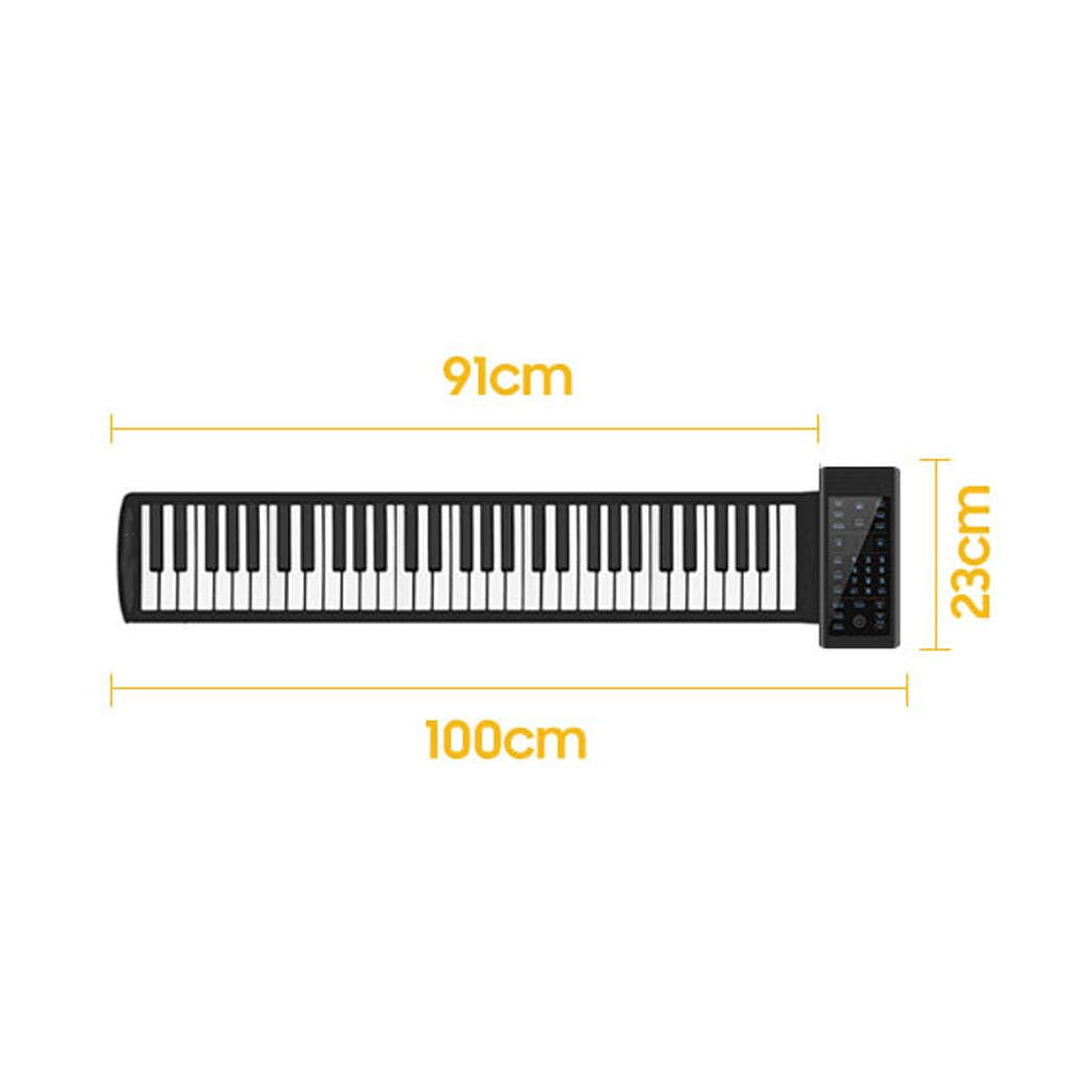 LINGLING-piano Hand Roll Piano 61/88 Key Hand Roll Piano Keyboard Thickening Professional Version Beginner Practice Portable Electronic Piano (Color : Black, Size : 61 Keys) by LINGLING-piano (Image #7)