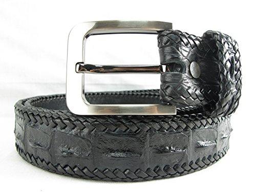 PELGIO Genuine Crocodile Alligator Backbone Skin Leather Handmade Belt 46