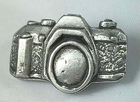 Gift Bag Camera Handcrafted From English Pewter Lapel Pin Badge