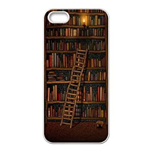 Light candle bookshelf with book Cell Phone Case for iPhone 5S