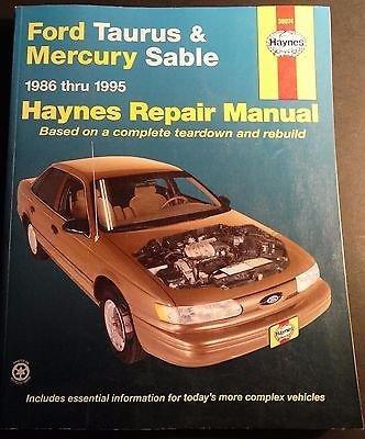 1986-1995 HAYNES FORD TAURUS MERCURY SABLE SERVICE MANUAL NEW 36074 (474)