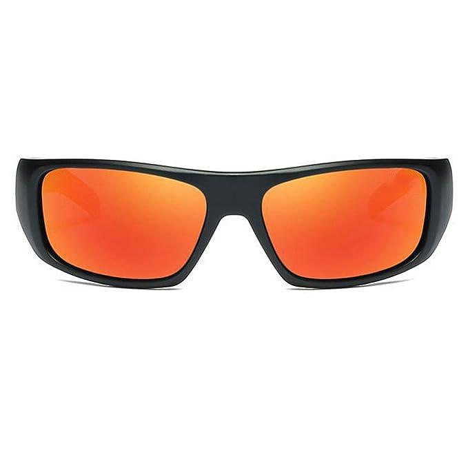 EYES Gafas de Sol polarizadas Camuflaje Deportes Bicicleta Gafas Película de Color Pesca de esquí polarizada Gafas de Golf al Aire Libre (Color : Negro): ...