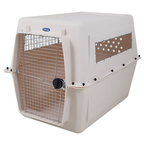 PETMATE VARI KENNEL 90-125lbs, Bleached Linen (Travel Kennel Plastic)