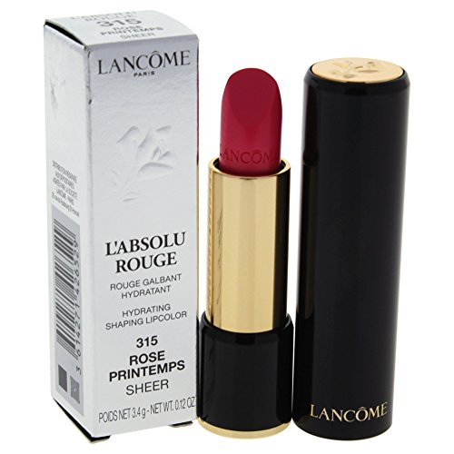 Lancome L'absolu Rouge Hydrating Shaping Lipcolor, Rose Printemps, 0.12 Ounce ()