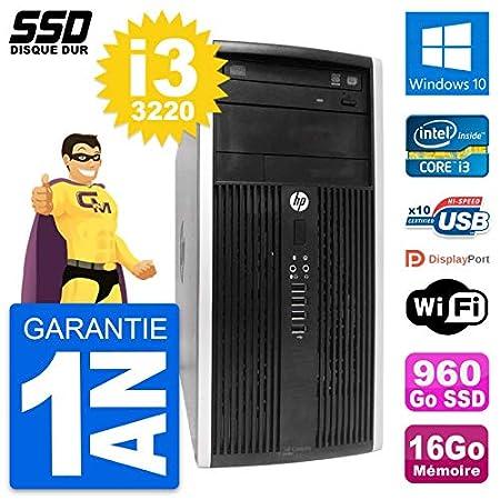 HP PC Torre Compaq Pro 6300 CMT Intel i3-3220 RAM 16GB SSD 960GB ...