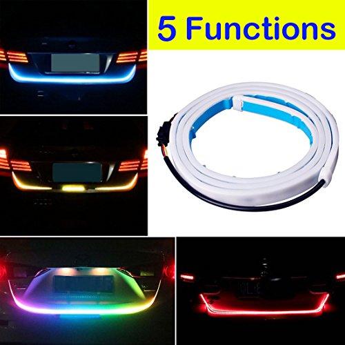 Botepon 60'' Universal 5 Functions Car LED Tail Strip Light, Tailgate Rear Lights Bar Strip 12V for Running Light, Turn Signal Light, Brake Light, Reverse Light, Double Flash (Rear Turn Signal Stay)