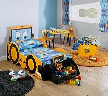 Kinderbett baggerbett  Amazon.de: Kidsaw Kinder mit Aufgedrucktem JCB Bagger-Motiv, Für ...