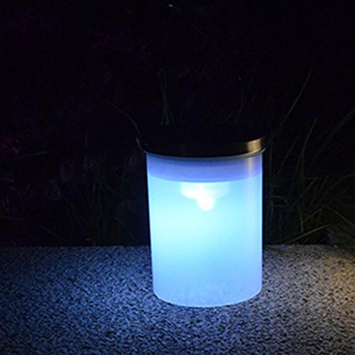 Highpot Solar LED Lights Bucket Shape Hanging Lamp Outdoor Chandelier Garden Hanging Lights For Patio, Bushes, Bedroom and Windows (white)