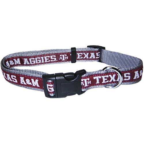 Mirage Pet Products Texas A&M Aggies Collar for Dogs and Cats, Medium