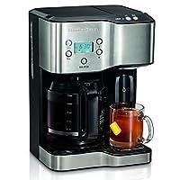Cafetera y dispensador de agua caliente Hamilton Beach 49982, negro