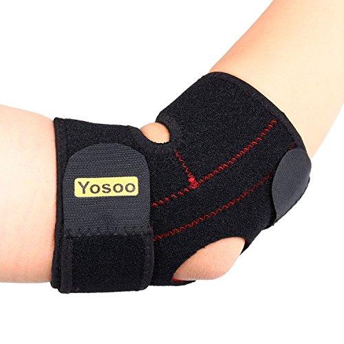 Yosoo Einstellbare Neopren Ellenbogenbandage Tennisarm Golf, Gute Pflege für Ihn / Sie, Universalgröße, Schwarz