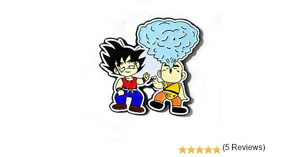 Goku and Krillin Smokin Dragon Ball Stoner Art Colgante de solapa ...