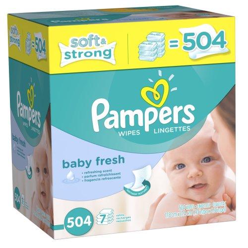 Case Pampers Softcare bébé frais Lingettes 7x, 504 comte