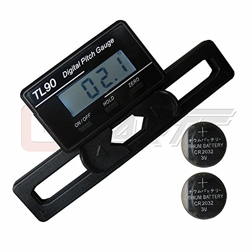 GARTT Helicopter Electronic Digital Pitch Gauge For RC Helicopter