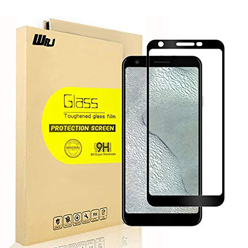 [2-Pack] WRJ Screen Protector for Google Pixel 3a XL Tempered Glass, [Full Cover][Bubble Free][Anti-Fingerprints] Screen Cover for Pixel 3a XL /Pixel 3 lite XL,6.0 (Black)
