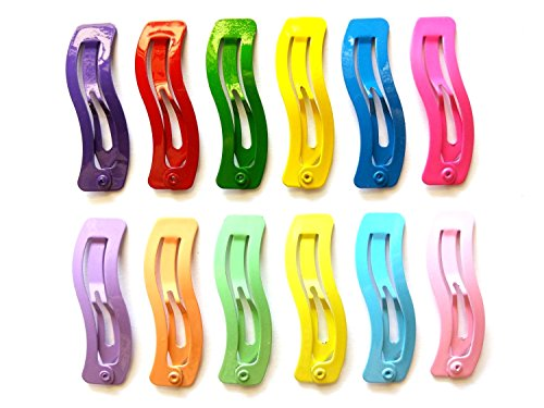 ular Hair Clip For Toddler Girl Size 40 Mm (Mix Bright and Pastel) 13 Colors ()