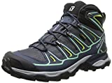 Salomon Women's X Ultra Mid 2 GTX Hiking Shoe, Grey Denim/Deep Blue/Lucite Green, 9 M US