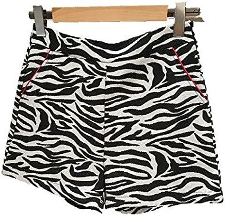 Kzell-Short-Zebre-Femme 3: Amazon.fr: Vêtements