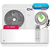 Cooper & Hunter Sophia Wall Mount 36,000 BTU 16 SEER Ductless Mini Split Air Conditioner Heat Pump with Installation Kit