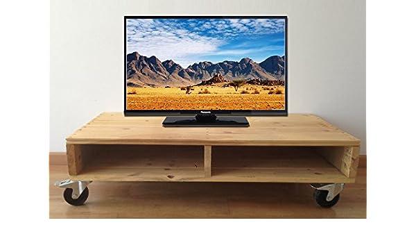 Mesa TV Palet Ruedas Ref.MPTVR1155526: Amazon.es: Hogar