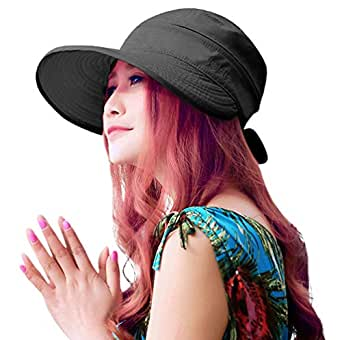 HINDAWI Sun Hat Wide Brim Sun Hats Women UPF UV Protection Visor Womens Floppy Beach Foldable Packable Cap