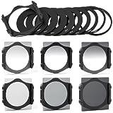 XCSource 6pcs ND2 ND4 ND8 Gradual ND2 4 8 Filter Set + 9pcs Ring Adapter for Cokin P series LF006