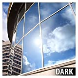 BDF EXS15 EXTERIOR Window Film Privacy and Sun Control Silver 15, Dark - 12in X 14ft