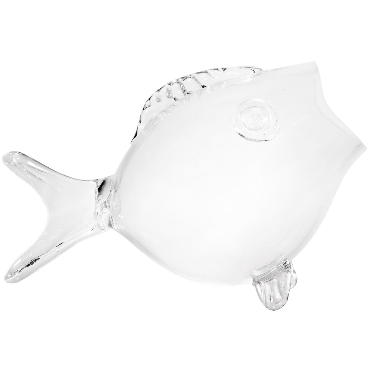 16.5\ Clear Fish Bowl Clear Fish Shaped Bowl (16.5  Large)
