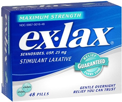 Ex-Lax Pills Maximum Strength 48 Each (Pack of 12) by Ex-Lax