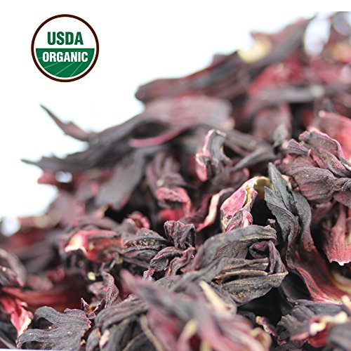 Hibiscus Tea 1LB (16Oz) 100% CERTIFIED Organic Hibiscus Flowers Herbal Tea (WHOLE PETALS), Caffeine Free in 1 lbs. Bulk Resealable Kraft BPA free Bags from U.S. Wellness by U.S. Wellness Naturals (Image #5)