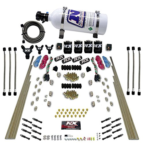 Nitrous Express 93106-05 8 Cylinder Dry Direct Port Nitrous System Dual Stage 8 Solenoids w/5 lb. Bottle 8 Cylinder Dry Direct Port Nitrous System Direct Port Nitrous System