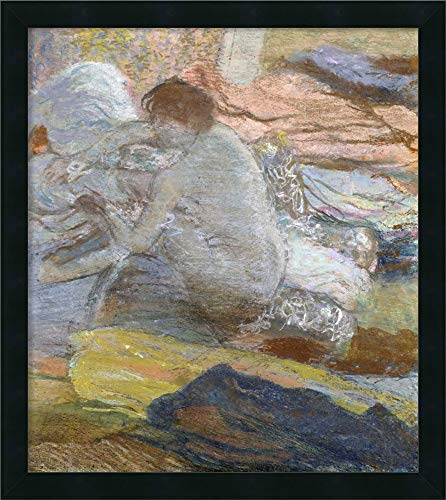 (Framed Canvas Wall Art Print | Home Wall Decor Canvas Art | Woman Wiping Her Feet by Edgar Degas | Modern Decor | Stretched Canvas Prints)