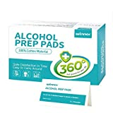 Winner Ultra Large Alcohol Prep Pads, 100% Soft Alcohol Wipes, Individually Sealed to Keep Sterile and Moist, 50 Count