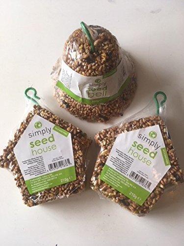 Simply Wild graines pour OISEAUX FRIANDISE variété PAQUET - Graines maisons et Bell Petface