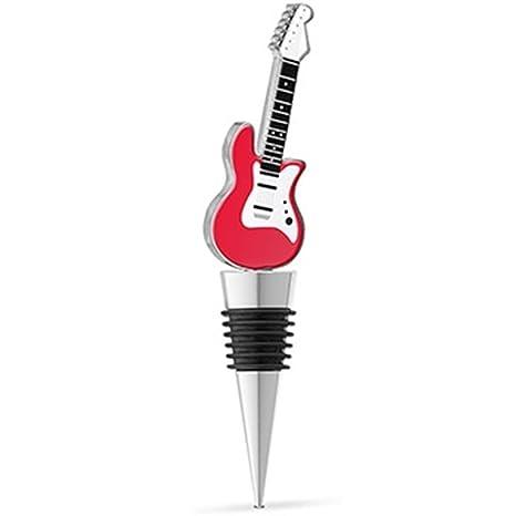 EPIC 20 – 087 rojo y blanco Rock guitarra eléctrica Metal tapón para botella de esmalte