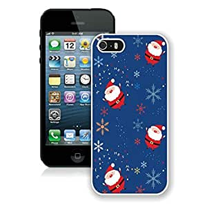 Special Custom Made Iphone 5S Protective Cover Case Santa Claus pattern iPhone 5 5S TPU Case 1 White
