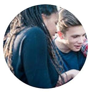 alfombrilla de ratón Grupo de amigos adolescentes multirraciales con Tablet PC - ronda - 20cm