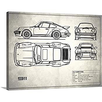 Mark Rogan Premium Thick-Wrap Canvas Wall Art Print Entitled Porsche 911- Turbo 1977 40