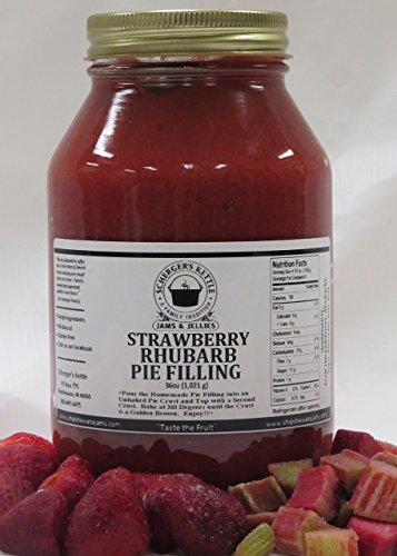 Strawberry Rhubarb Pie Filling, 36 oz