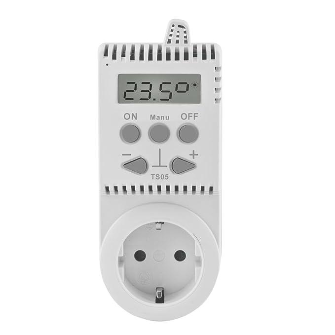 Elektrobock Termostato electrónico para enchufe control de temperatura calefacción electrica: Amazon.es: Bricolaje y herramientas
