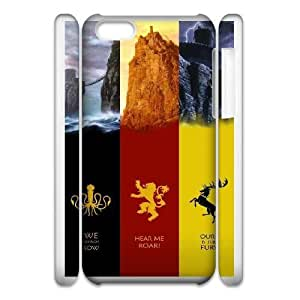 iphone6 4.7 3D Cell Phone Case White Game of Thrones Plastic Durable Cover Cases derf6977560