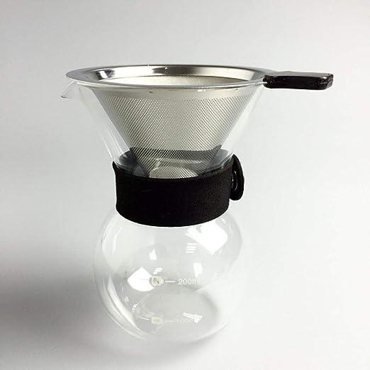 COKFEB Filtro de café Juego de filtros de Acero Inoxidable y ...