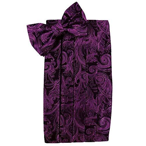 (Men's Tapestry Cummerbund & Bow Tie Set - Many Colors (Sangria))