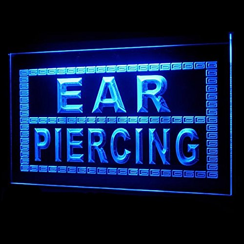 100076 Ear Piercing Body Tattoo Thorns Shop Display LED Light Sign by Easesign