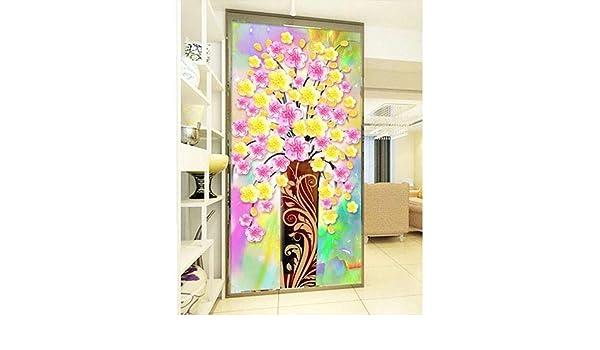 DANQINGSONG DIY bordado de diamante pintado a mano árbol de flores ...