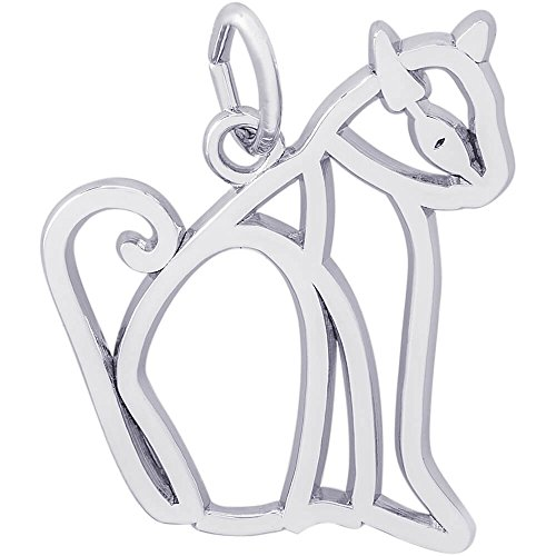 - Rembrandt Charms Siamese Cat Charm, Sterling Silver