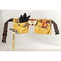 Delantal de trabajo de construcción de gamuza para trabajo pesado de gamuza I370X3 de CLC Custom con martillo de acero, 8 bolsillos