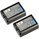 DSTE 2x NP-FW50 Replacement Li-ion Battery for Sony Alpha 7 7R 7R II 7S a7R a7S a7R II a5000 a5100 a6000 a6300 a6500 NEX-7 SLT-A37 DSC-RX10 II III 7SM2 ILCE-7R 7S QX1 5100 6000 Digital Camera