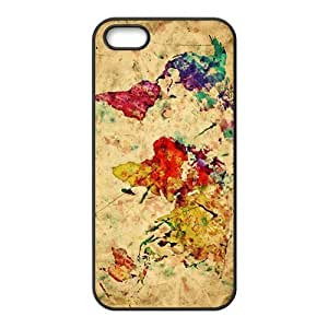 Watercolor world map Cell Phone Case for iPhone 5S