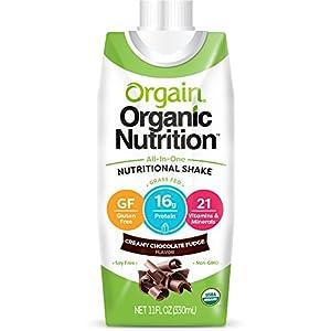 Orgain Organic Nutrition Shake, Creamy Chocolate Fudge, Gluten Free, Kosher, Non GMO, 11 Ounce, 12 Count, Packaging May Vary
